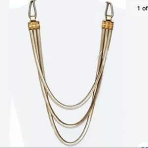 Juicy Couture Vintage Long 3 Chain Necklace Gold